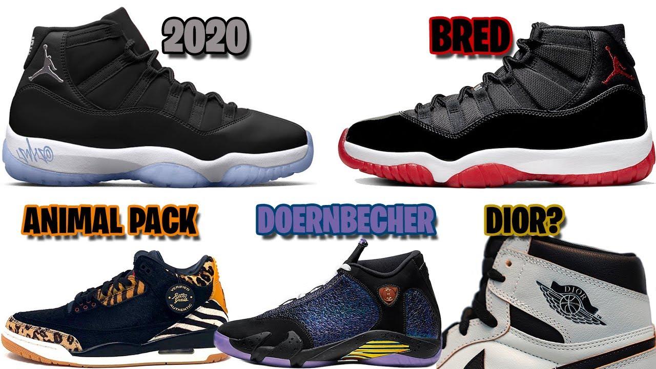 Christmas Jordans 2020 AIR JORDAN 11 FOR 2020, JORDAN 11 BRED, DIOR JORDAN 1, JORDAN 3