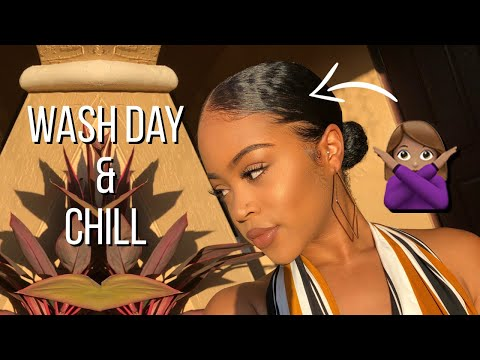 Wash Day & Chill Ep. 5 | Slick Buns Ruined My Hair🙄 + Some Positivity You NEED to Hear