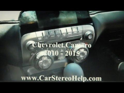 Chevrolet Camaro Stereo Removal 2010 - 2015
