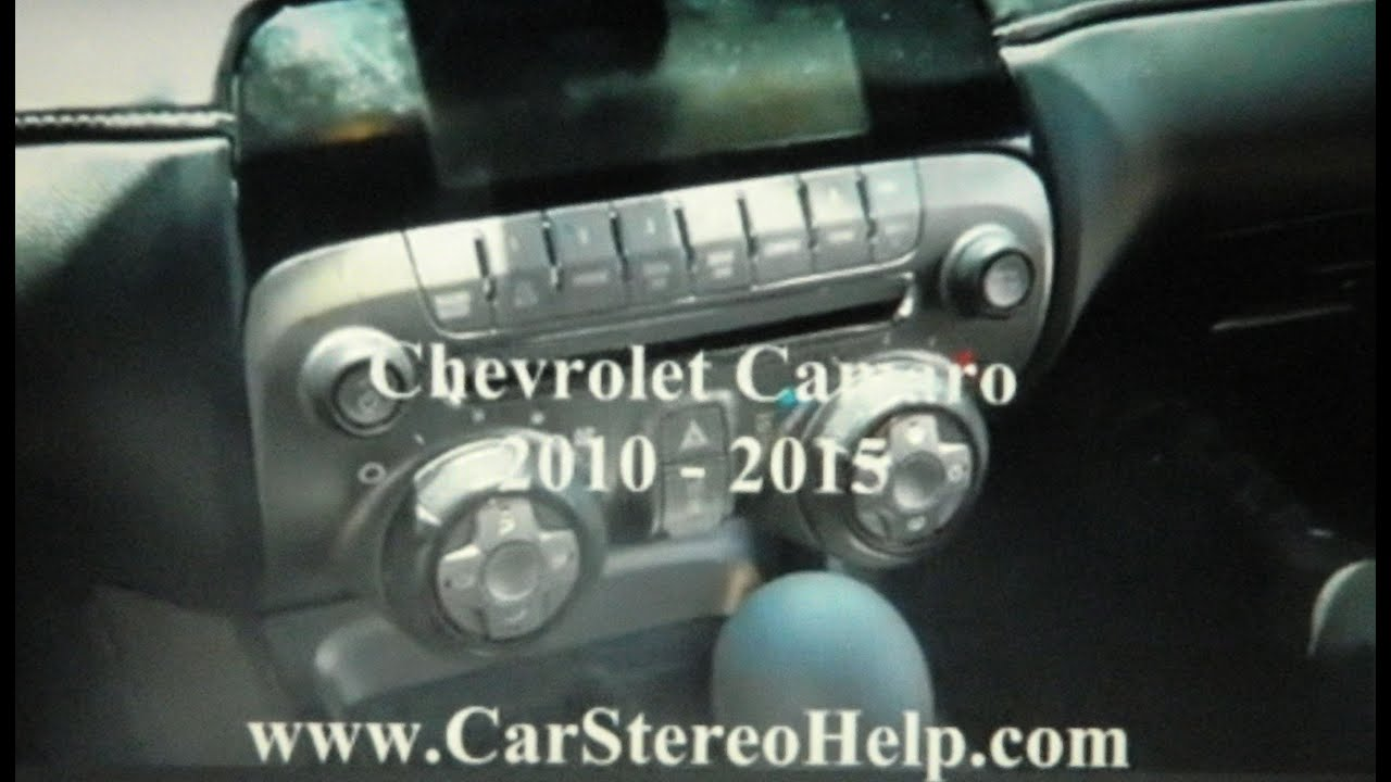 small resolution of chevrolet camaro stereo removal 2010 2015