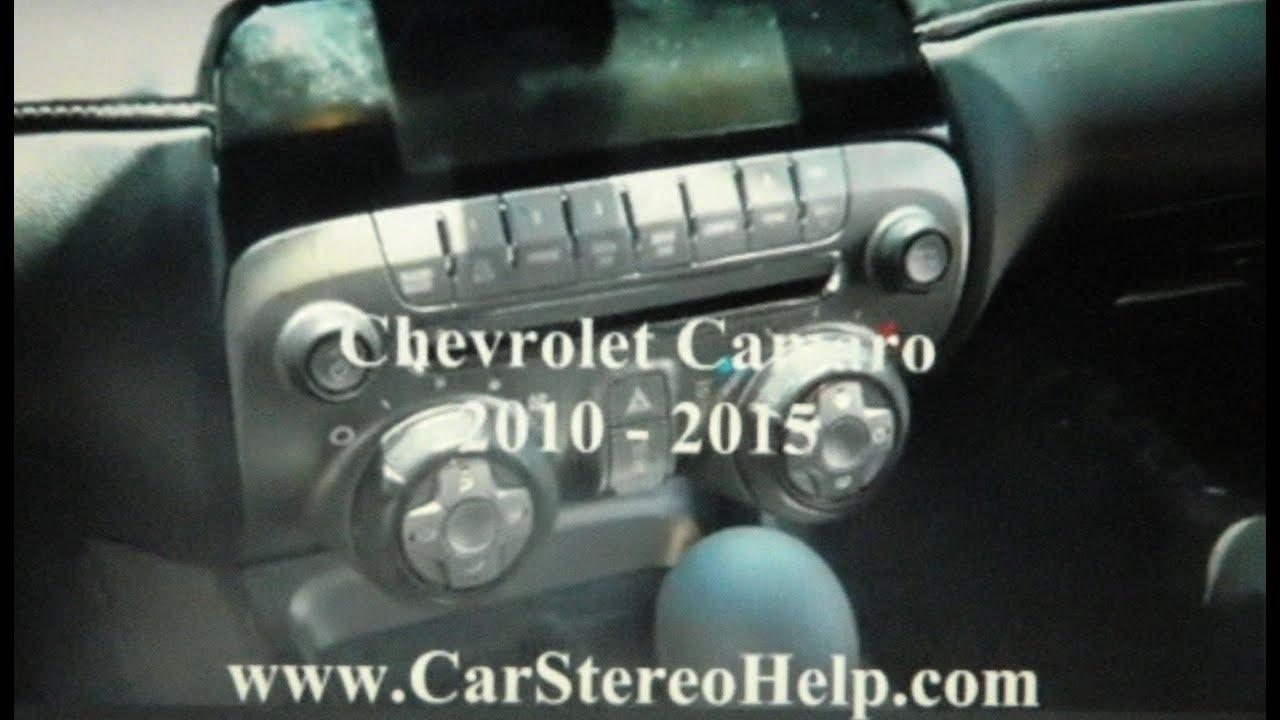 medium resolution of chevrolet camaro stereo removal 2010 2015