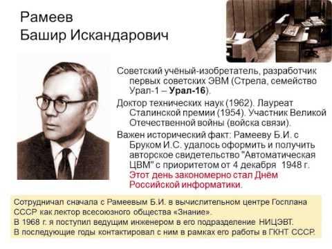 История развития вычислительной техники с 1940 года до