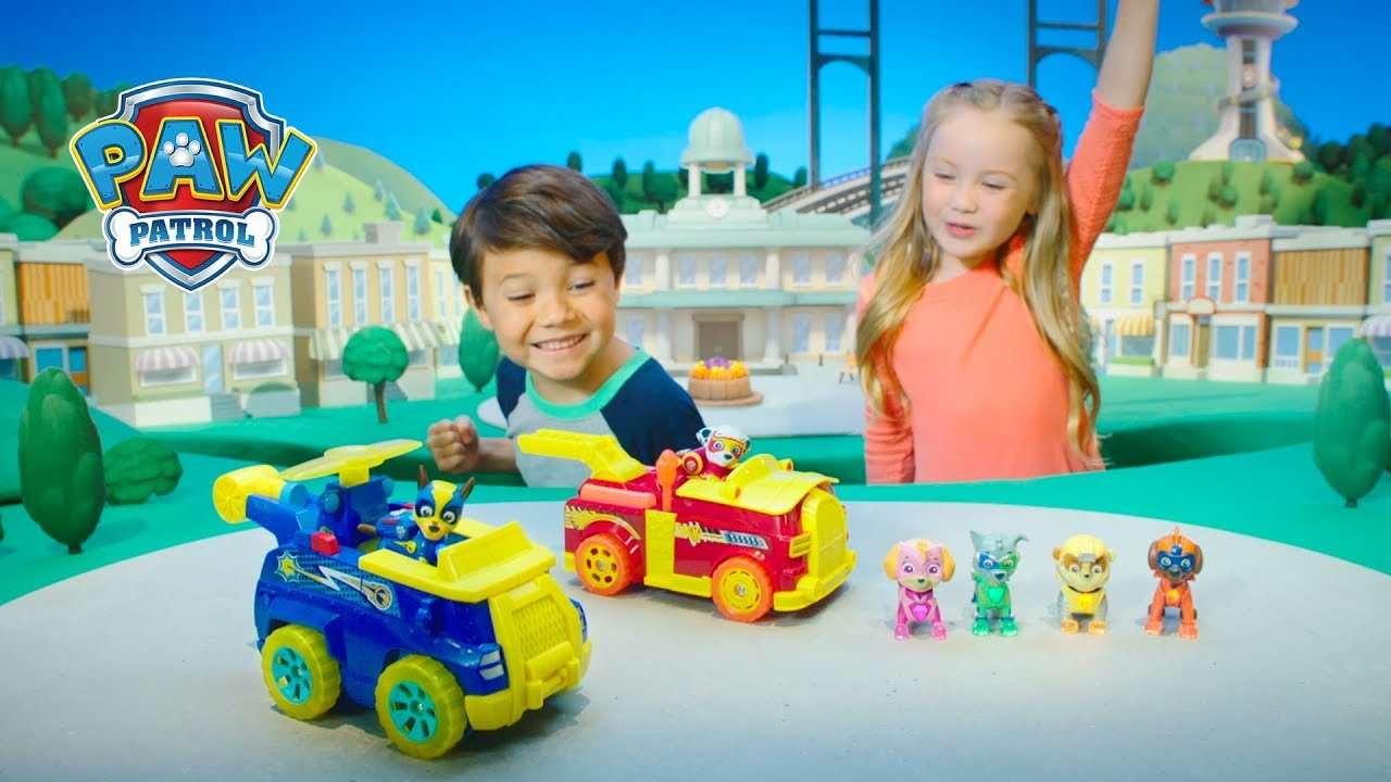 Paw Patrol New Mighty Pups And Flip Amp Fly Vehicles Tv