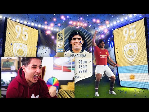 I GOT 95 MARADONA IN A PACK!!! FIFA 18 PACK OPENING