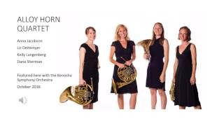Alloy Horn Quartet perform Schumann's Konzerstucke with KSO