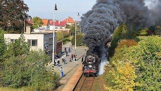 Parní lokomotiva 556.0506 (Štokr) - Poslední parní víkend v Železničním muzeu ČD v Lužné 2018