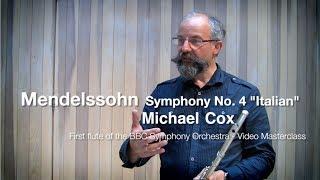 Мендельсон, Симфония 4 - видео урок для самостоятельного изучения оркестровых трудностей для флейты