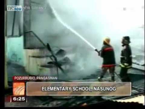 Elementary school burns down in Pozzorubio, Pangasinan
