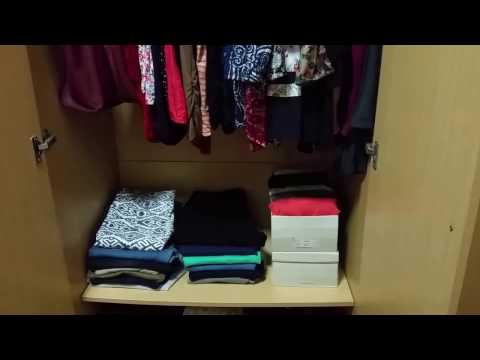 Closet organization-women's clothes