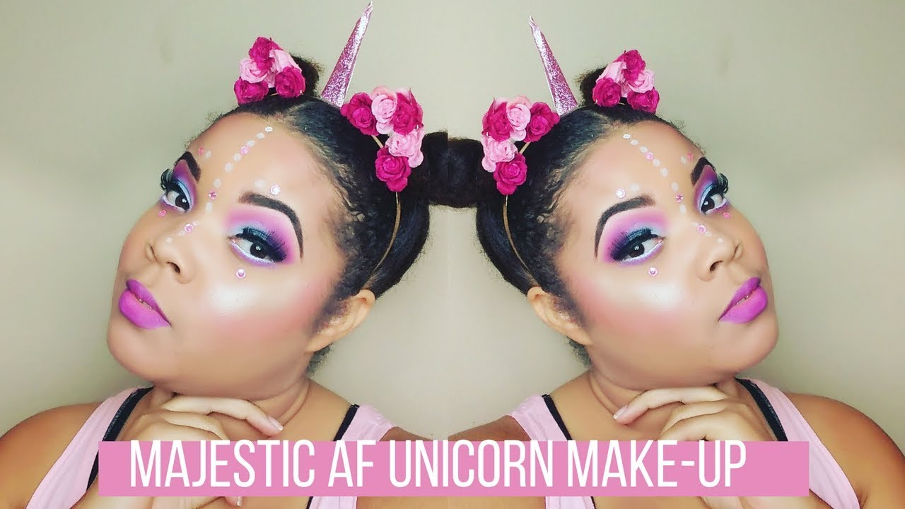 a01d640bd1c Majestic AF Unicorn Beat | Last Minute Halloween Makeup - YouTube