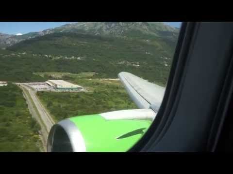 Посадка Боинг 767-300 S7 Airlines Москва-Тиват
