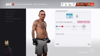 UFC3 ultimate ranked grinding 1400 stand-up only!