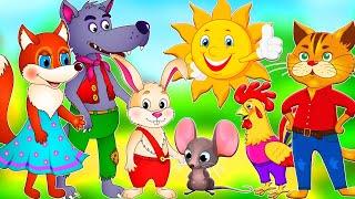 Большой сборник сказок для детей про Петушка, Курочку Рябу, Лисичку, Зайчика и других животных