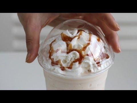 طريقة تحضير مشروب كراميل فرابوتشينو Youtube