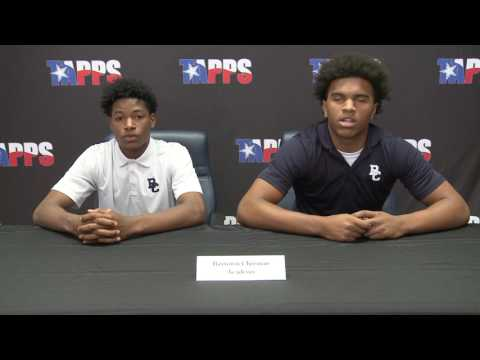 Baytown Christian Academy Football Pre-Game Press Conference Players