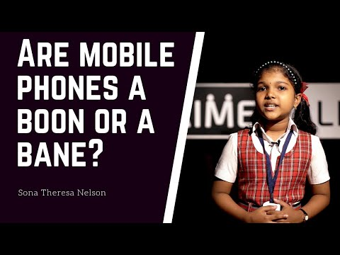 Mobile Phones -  Boon Or Curse Speech By Sona Theresa Nelson | Holy Child Central School, Snehagiri