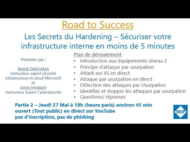 Les Secrets du Hardening – Sécuriser votre infrastructure interne en moins de 5 minutes