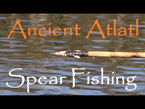 Spear Fishing With An ATLATL! Barracuda Catch And Cook