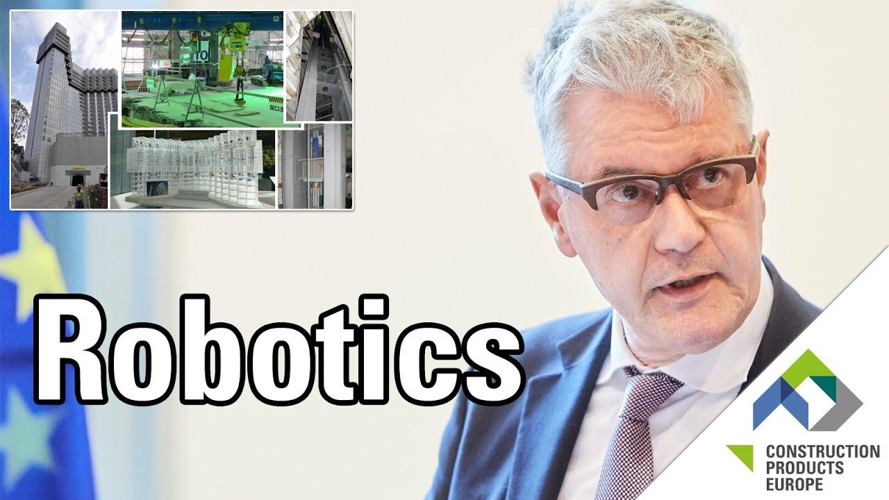 Robotics in construction by Thomas Bock, euRobotics & TU München