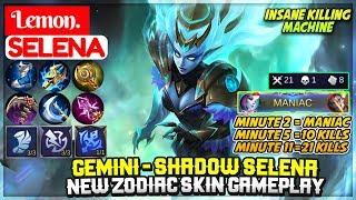 Gemini - Shadow Selena, New Zodiac Skin Gameplay [ Lemon Selena ] Lemon. - Mobile Legends