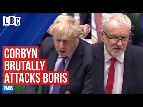 Jeremy Corbyn brutally attacks Boris Johnson over cocaine past | PMQs