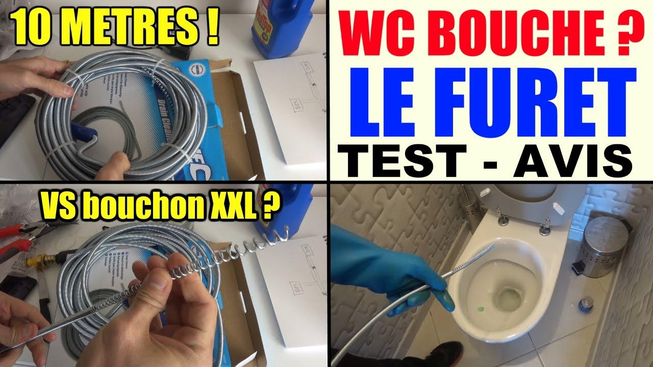 Toilette Bouchée Wc - Le Furet - Deboucher Canalisation Wc Lavabos  Baignoire Evier Gouttieres Test - YouTube