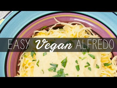 Spaghetti Squash with Cream Sauce | VEGAN