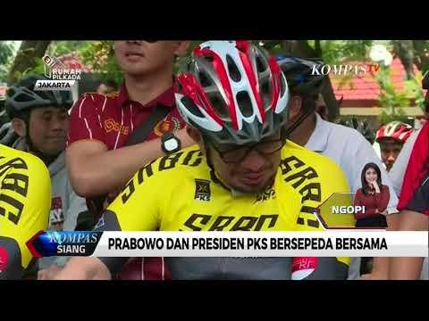 Prabowo dan Presiden PKS Bersepeda Bersama