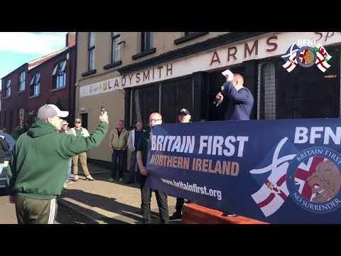 Patriots Britain First in Ballymena UK.
