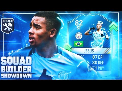 FIFA 17 SQUAD BUILDER SHOWDOWN!! FIRST OWNER 82 RATED OTW GABRIEL JESUS SBSD vs AJ3!!