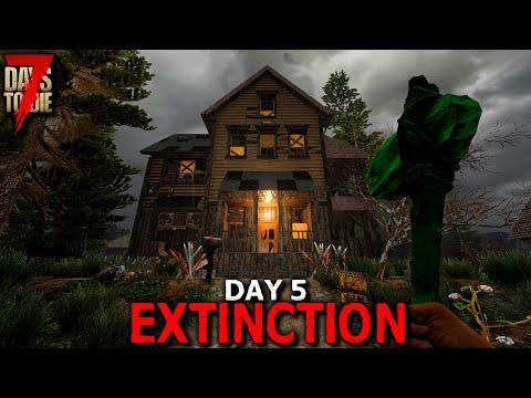7 Days to Die: Extinction - Day 5 | 7 Days to Die (Alpha 19 Gameplay)