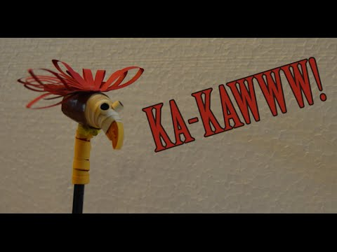 Papercraft 3-D paper quilling eagle pencil cap [tutorial]| ka-kaww!!
