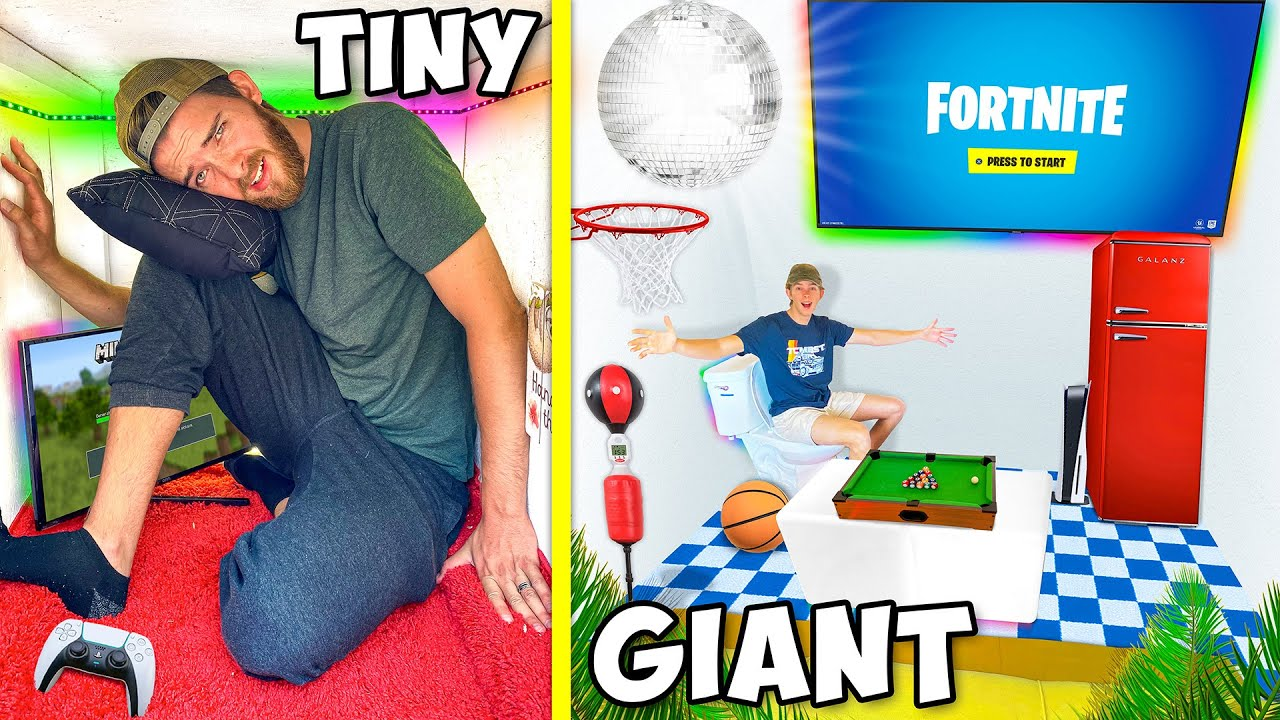 Download Tiny vs GIANT Overnight Gaming Forts!