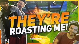 TSM Hamlinz - TSM HOUSE ROASTS ME! Squads ft. Myth and Daequan (Fortnite BR Full Game)