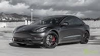 c9fe606e1039 Performance Tesla Model 3 Customized with All Satin Black Look and 20