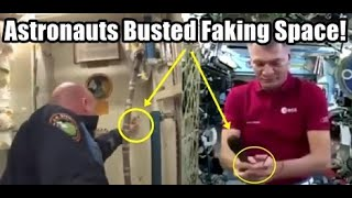 """Astronauts Exposed Faking Space - Dropping Objects In """"Zero Gravity ISS"""""""