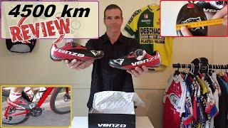 Venzo carbon road shoe - 4,500km Review