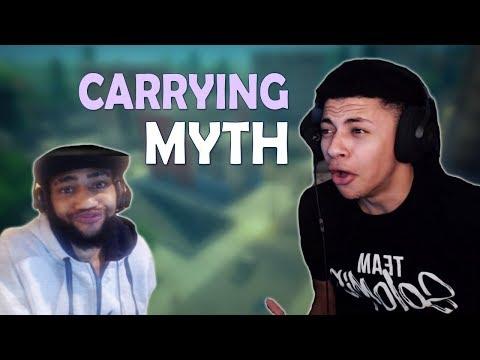 TSM MYTH GETS CARRIED BY DAEQUAN - (Fortnite Battle Royale)