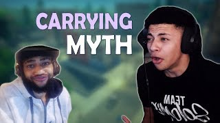 TSM MYTH GETS CARRIED BY DAEQUAN - (Fortnite Battle Royale)