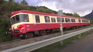 Train spécial dans les Alpes avec l'autorail historique X4567 de L' ATTCV