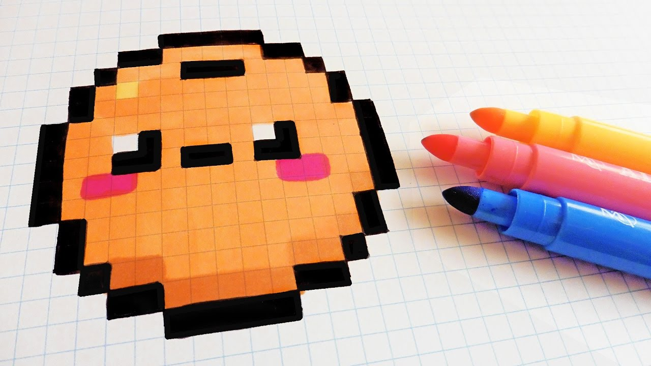 Handmade Pixel Art How To Draw Kawaii Orange Pixelart