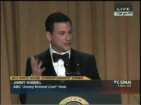 Jimmy Kimmel Roasting at the 2012 White House Correspondents' Dinner