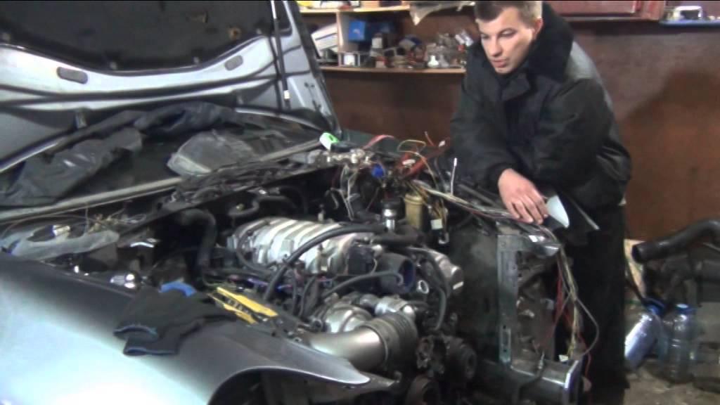 3UZ-FE в Porsche Cayenne. Первый запуск