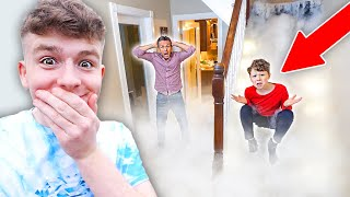 I Filled Parents Hoขse with DRY ICE Prank! *1000LBS*