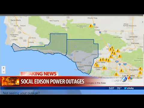 Thomas Fire knocks out power again in Santa Barbara County