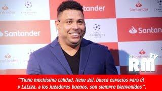 "Ronaldo Nazario elogió al ""Chucky"" Lozano"
