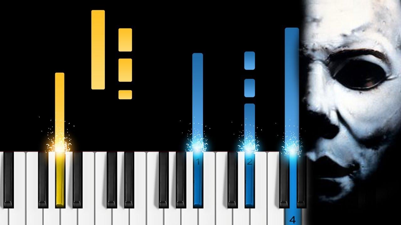 halloween theme easy piano tutorial