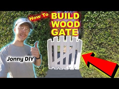 How To Build a Wooden Garden Gate -Jonny DIY