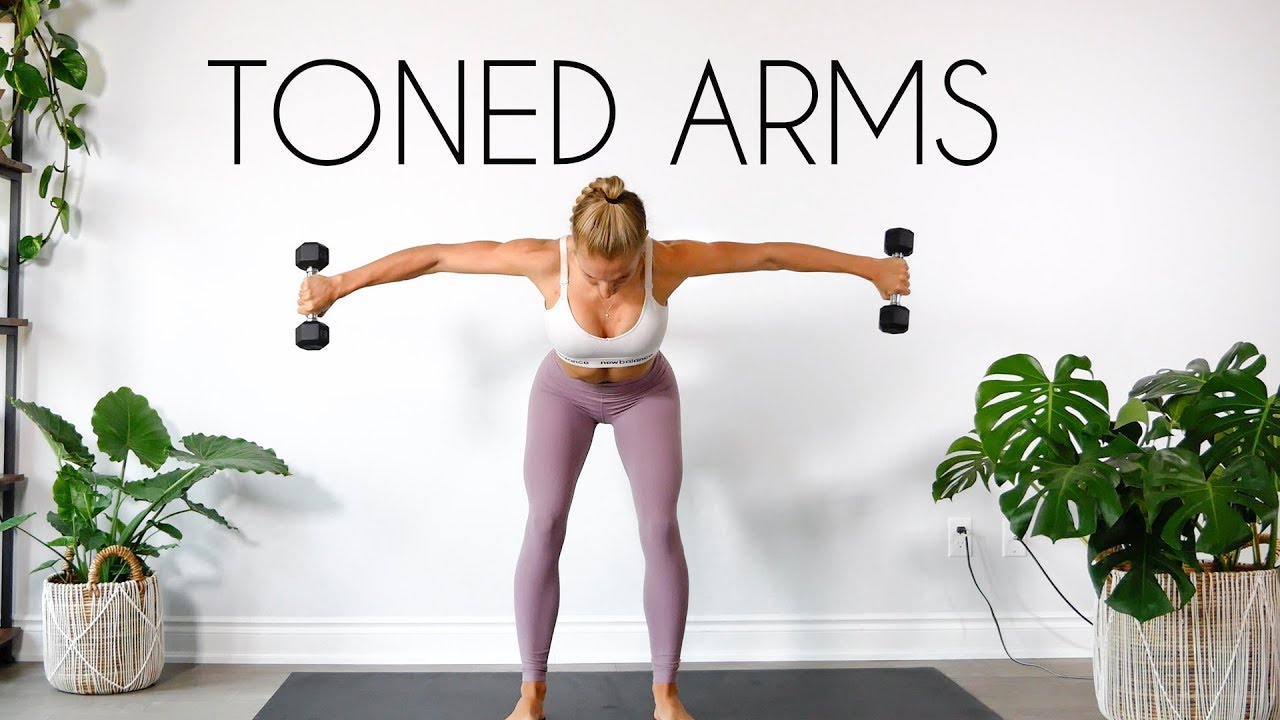 Download 10 MIN TONED ARMS WORKOUT (At Home Minimal Equipment)