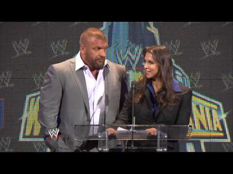 "Paul ""Triple H"" Levesque & Stephanie McMahon appear at the WrestleMania 29 Press Conference"